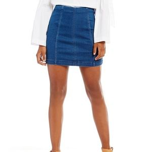 EUC Free People Modern Femme Denim Mini Skirt 6